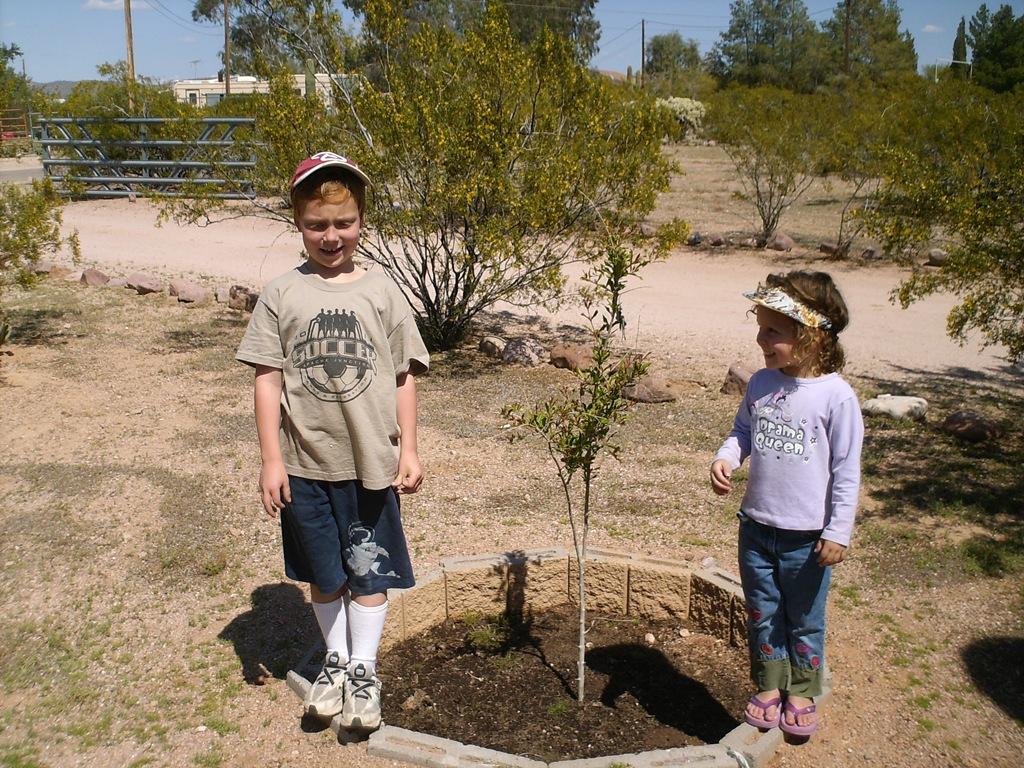 Kids love gardening.