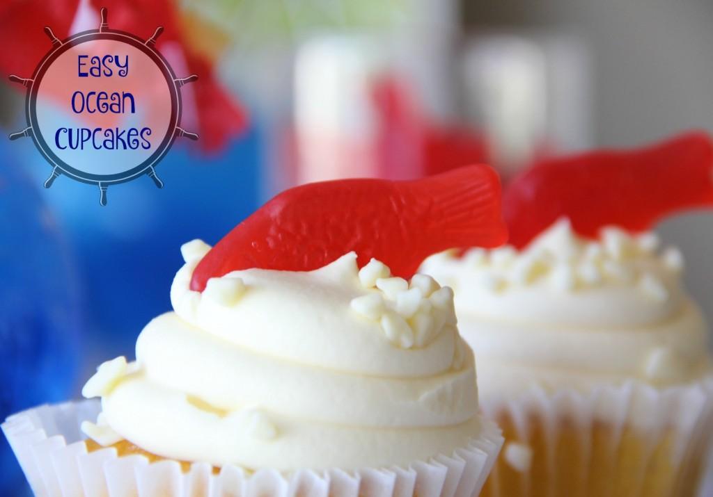 Easy Ocean Cupcakes 2 Ways