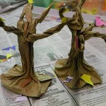 Fall or Halloween Craft: Paper Bag Trees