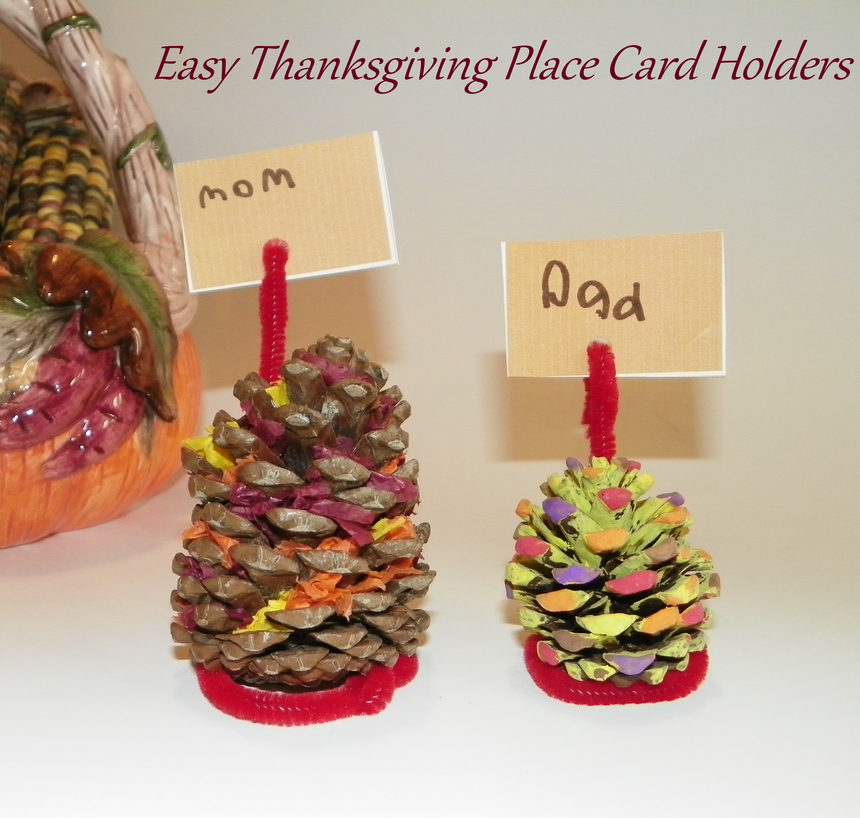 Easy thanksgiving place cards 100 images 30 and easy for Unique thanksgiving place card holders