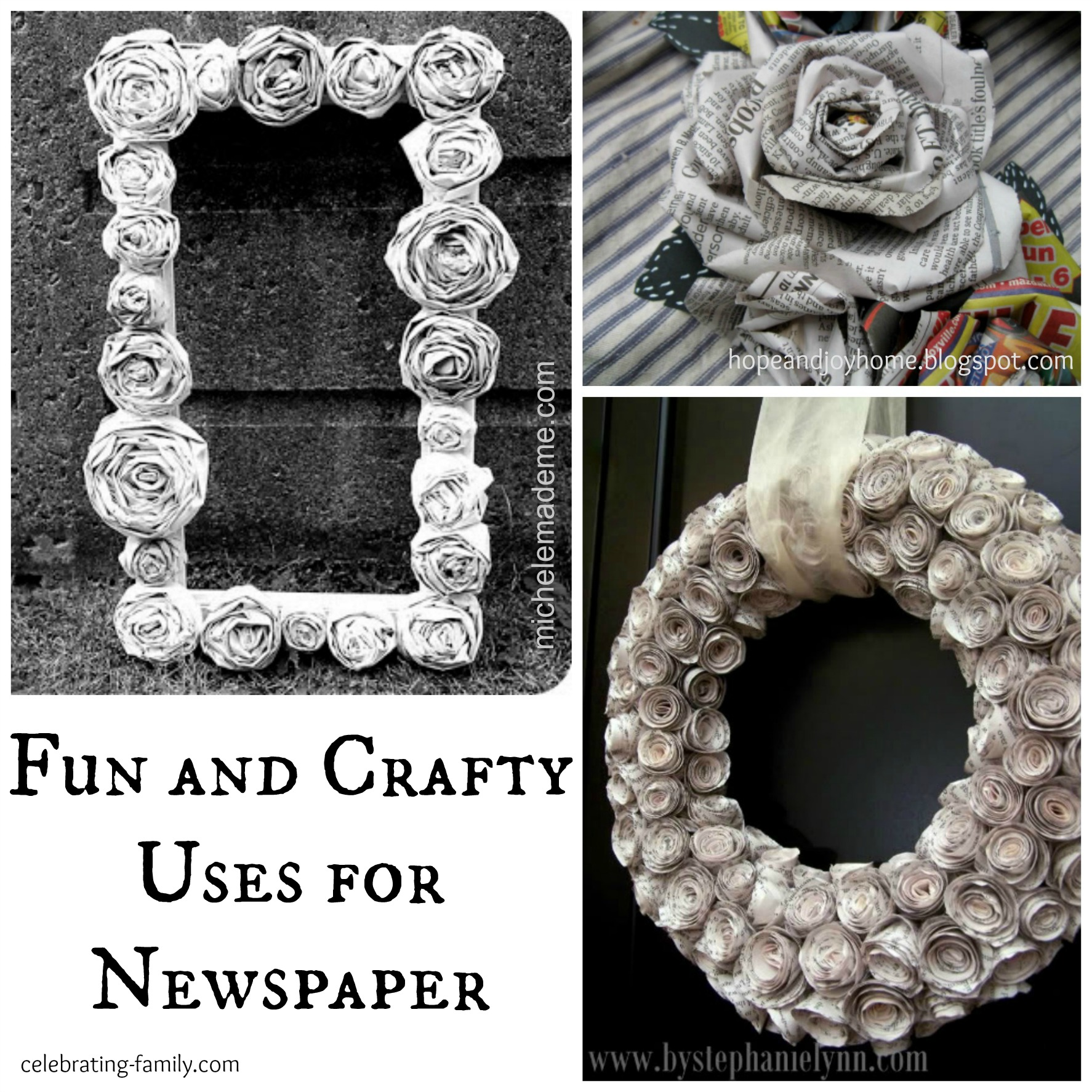 Crafts from old newspaper for Creative use of waste newspaper