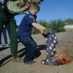 Flag Retirement Ceremony or My Son Burned the Flag