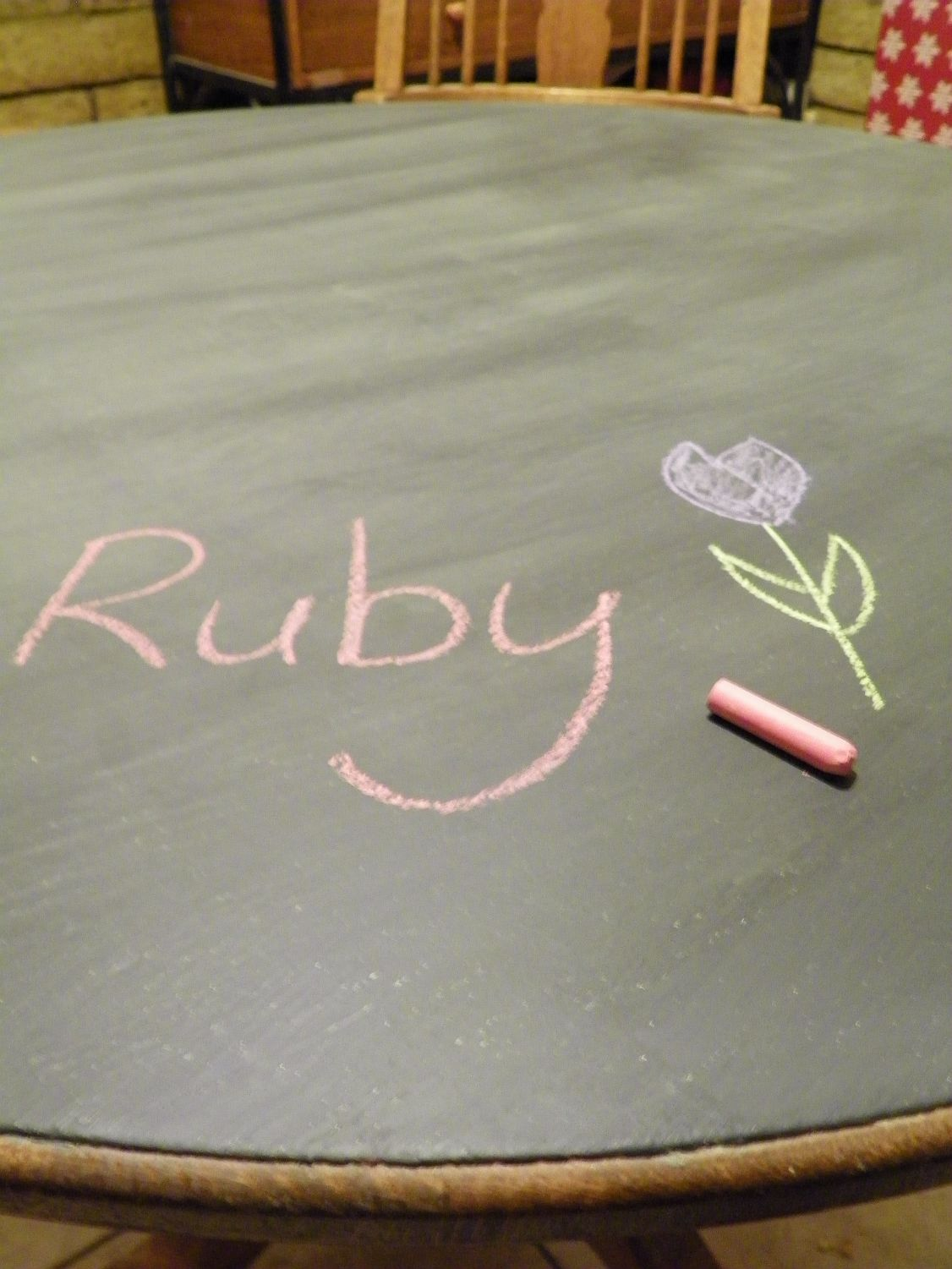 Turning Your Dining Table Into a Chalkboard