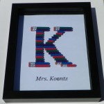Pencil Monogram Teacher Gift