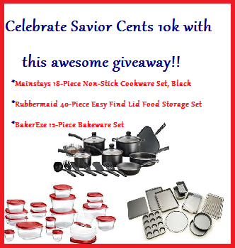 Amazing Giveaway From Savior Cents: Cookware, Bakeware, and Rubbermaid
