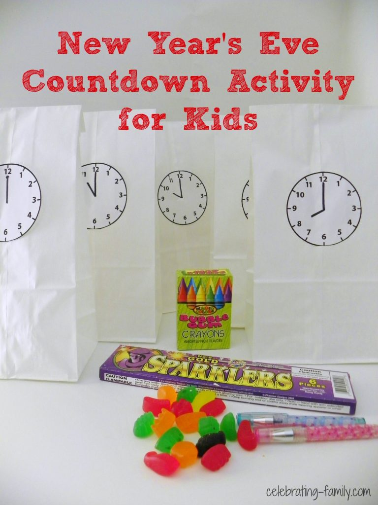 New Year's Eve Countdown Activity for Kids