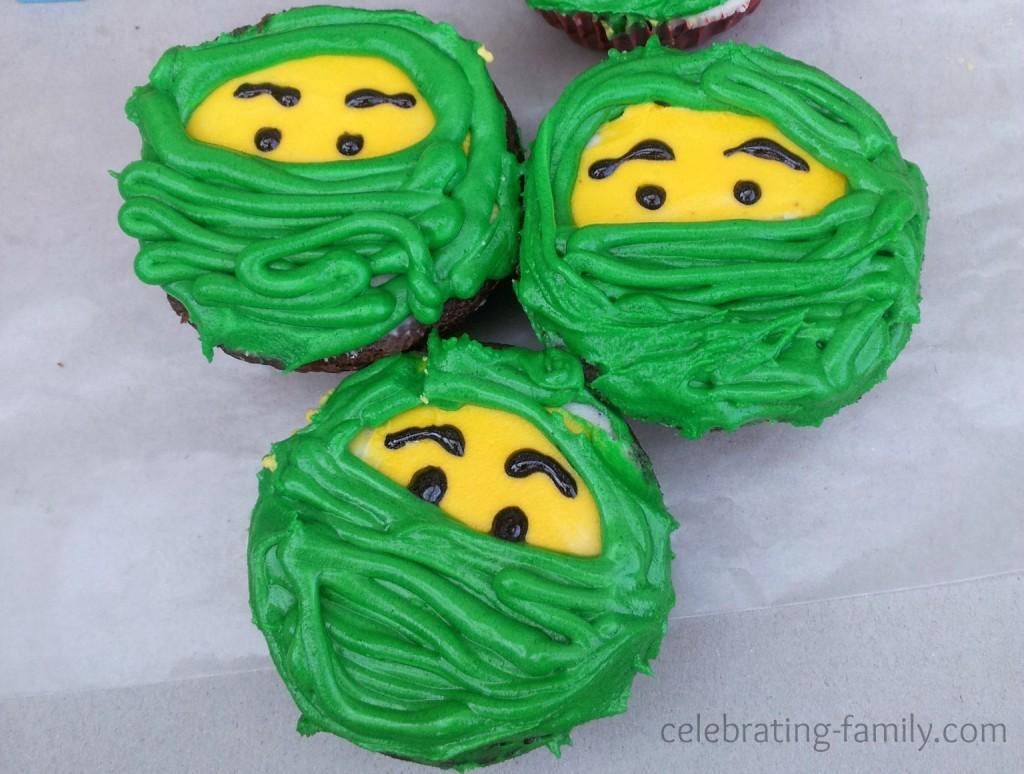 Lego Ninjago Cupcakes Green Ninja