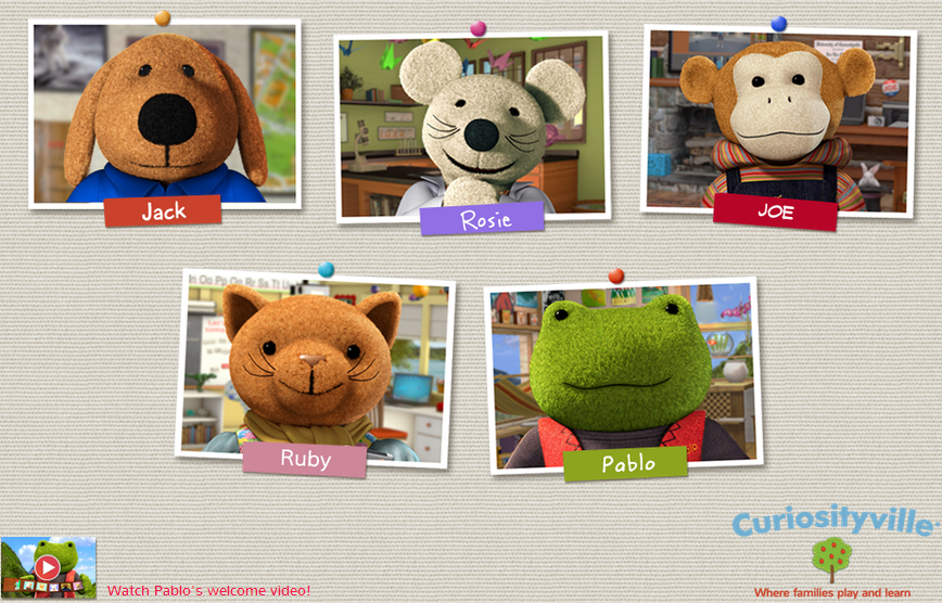 Curiosityville characters