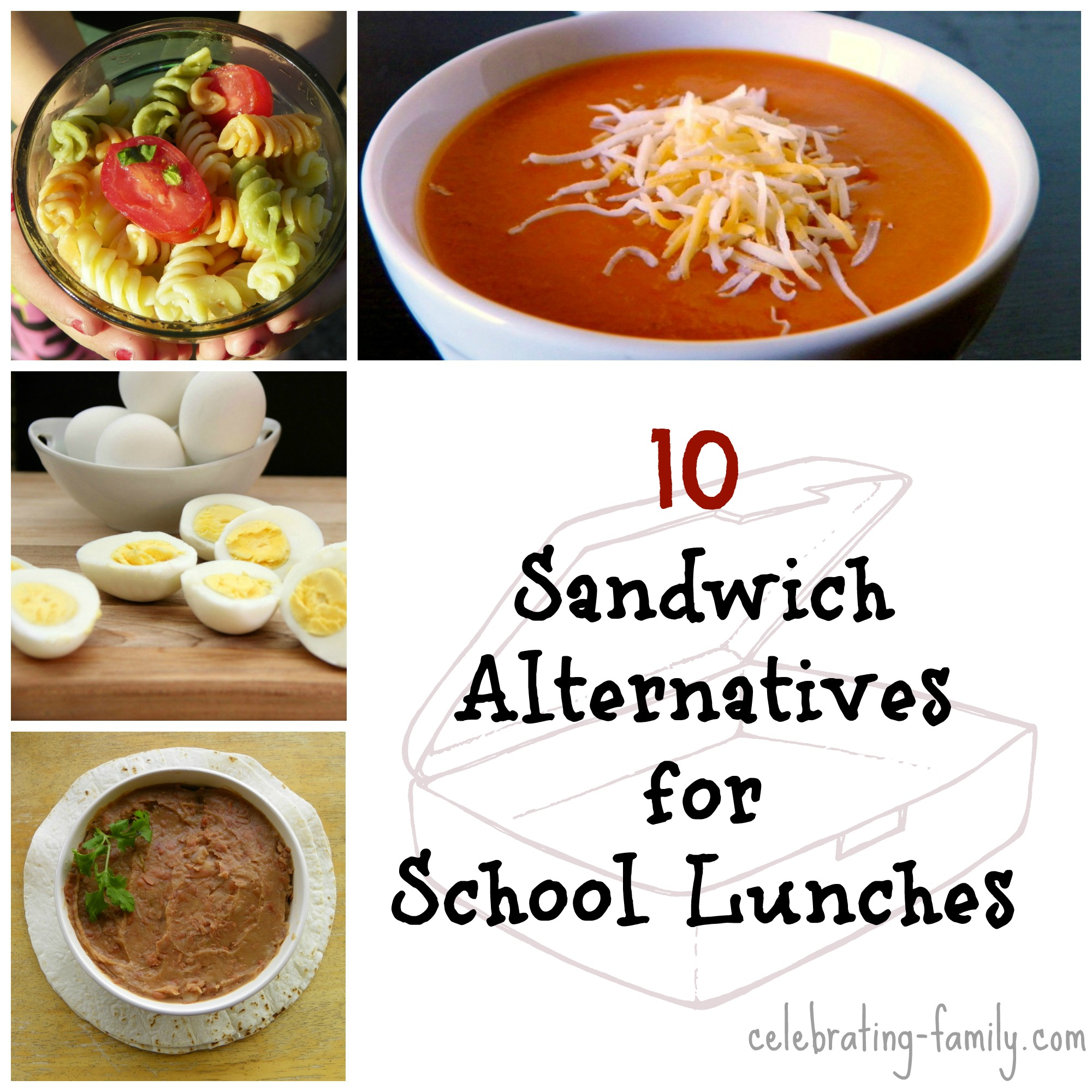 10 Sandwich Alternatives for School Lunches
