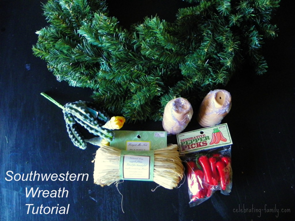 Southwestern Wreath tutorial by Celebrating Family
