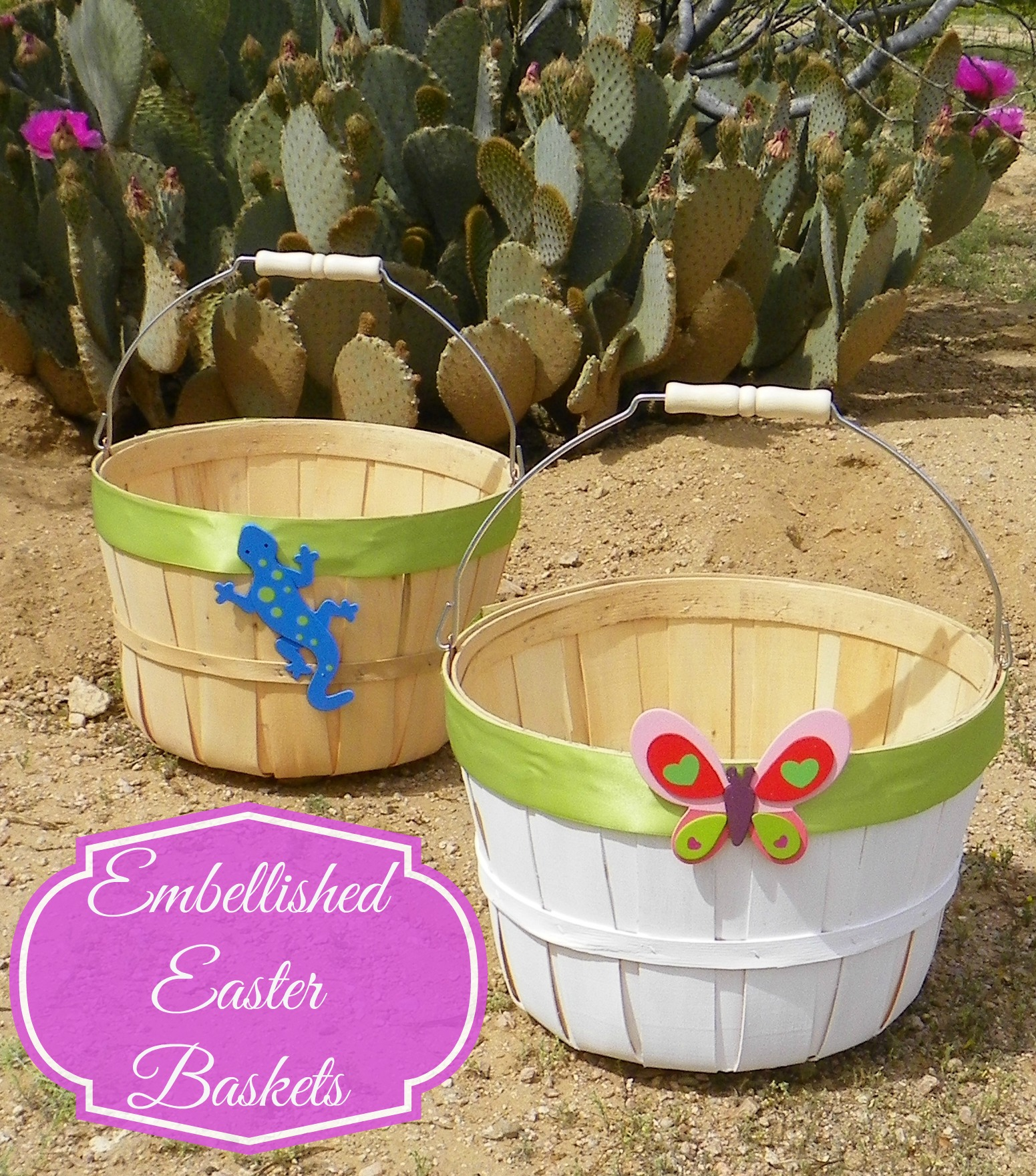 Easy embellished easter baskets affordable and personalized how to embellish simple easter baskets negle Choice Image