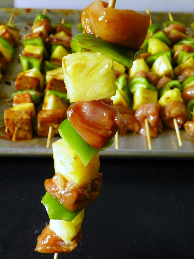Ready to cook - Hawaiian Barbecue Chicken Skewer