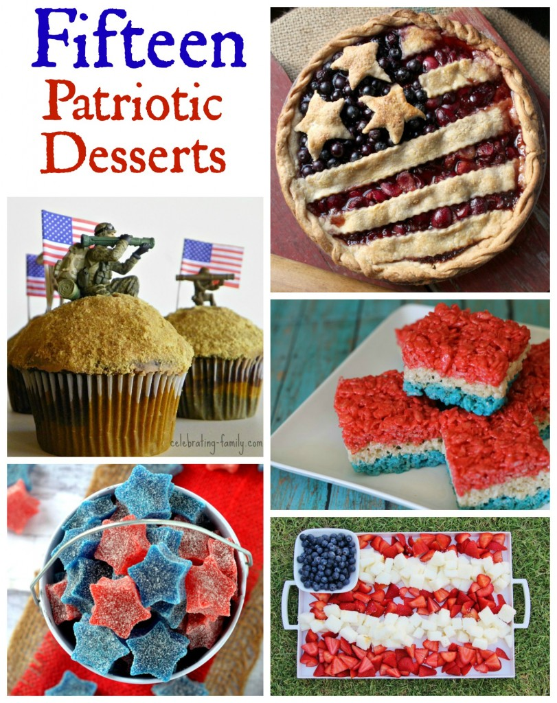 Patriotic Desserts for July 4th, Memorial Day, or whenever!