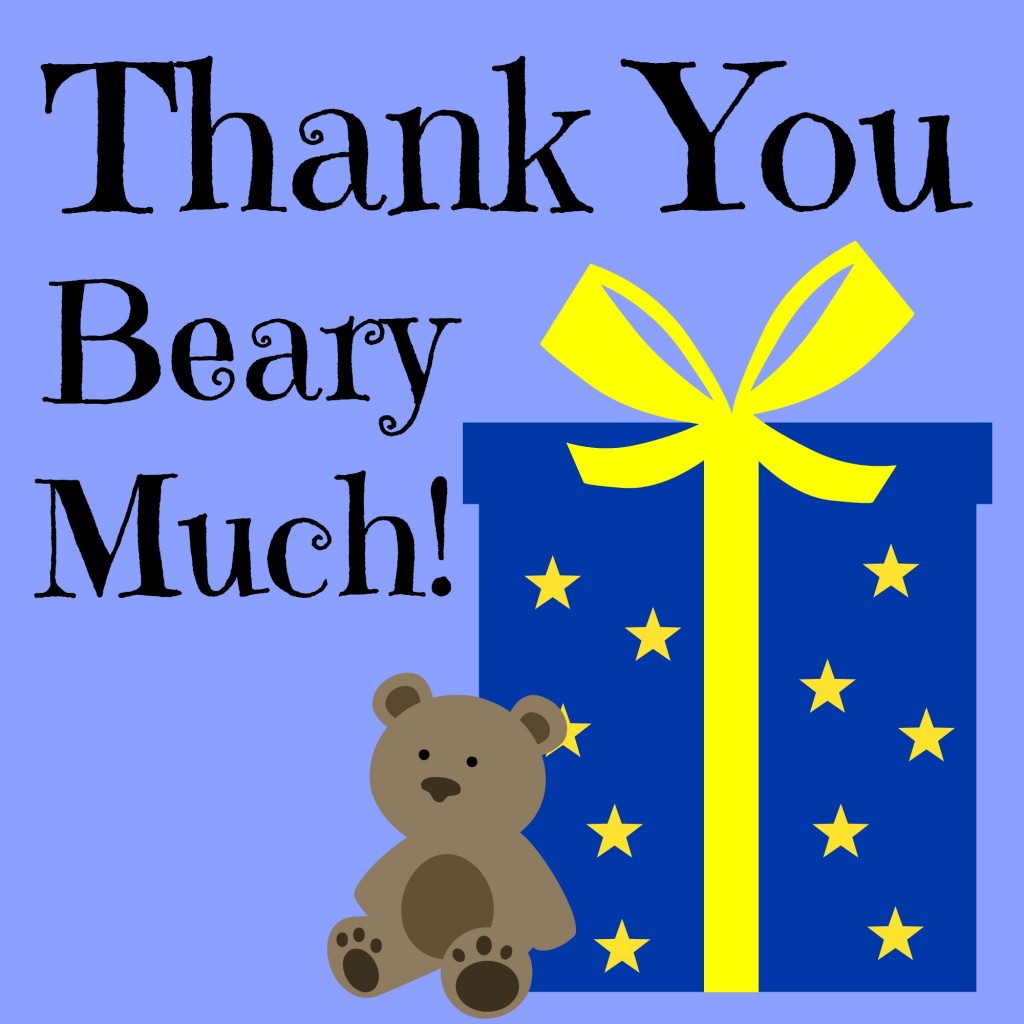 Gummy bear thank you (printable)