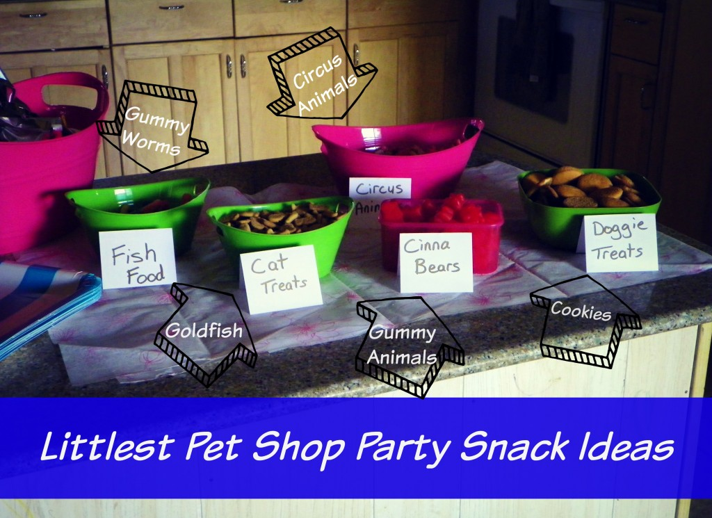 Littlest Pet Shop party snack ideas.