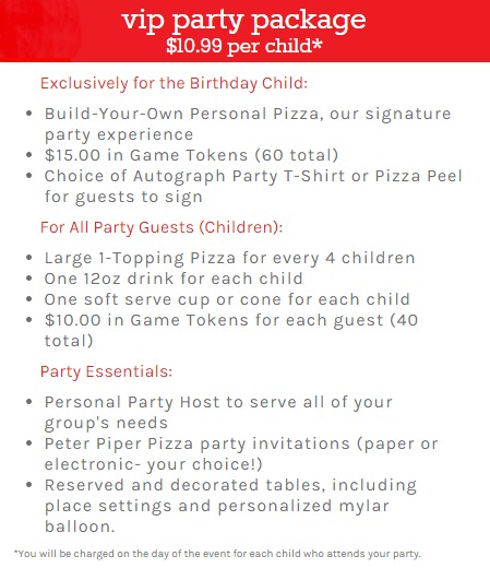Peter Piper Pizza Birthday Parties Hassle Free Family Fun