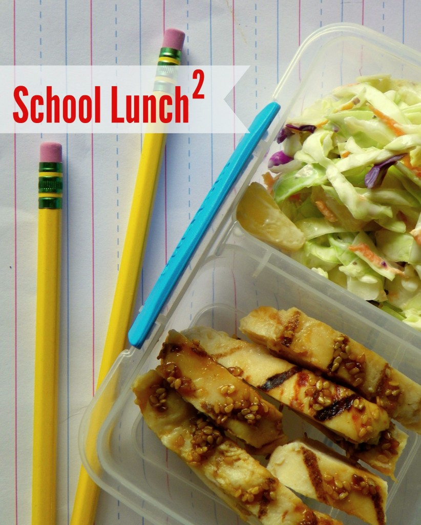 Grilled Chicken Teriyaki Strips and Coleslaw with Pineapple – School Lunch Elevated #ChooseSmart #CollectiveBias #Shop