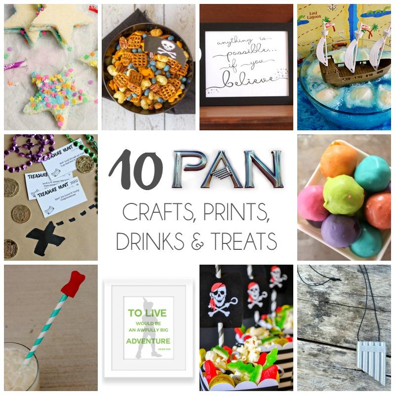 10 Pan Crafts, Prints, Treats & Drinks SQAURE