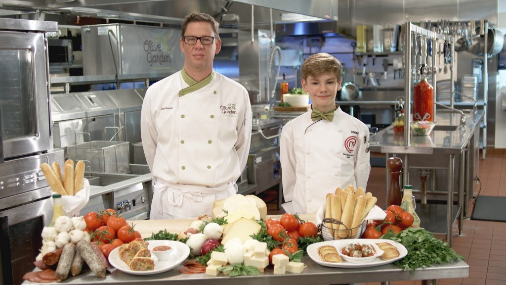 Olive Garden - Executive Chef Jim Nuetzi + MasterChef Junior Logan Olive Garden and MasterChef Junior