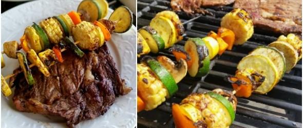 Marinated Veggie Kabobs and Ribeyes #BestSummerBBQ