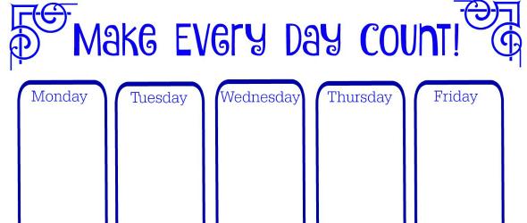 Summertime Weekly Calendar (Free Printable)