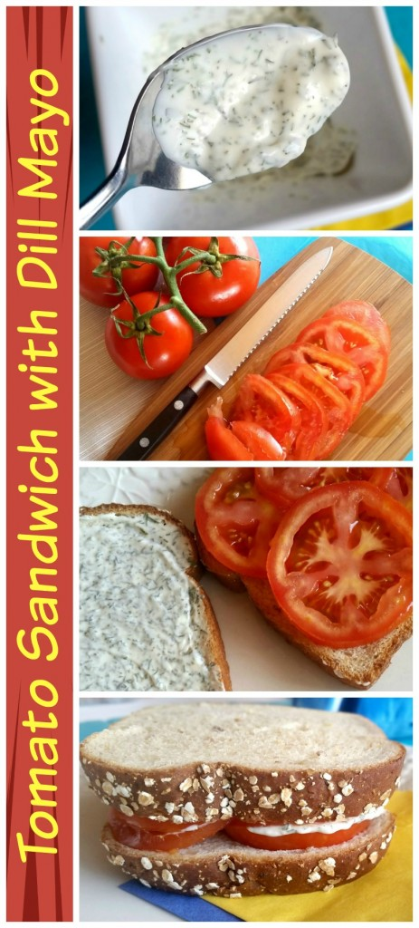 Easy Vegetarian Lunch Idea: Tomato Sandwich with Dill Mayo