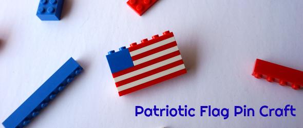 Patriotic Flag Pin Craft in Honor of #USOCarePacks